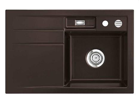 systemceram Bela 78 Siena in ceramica lavello lavabo cucina marrone ...