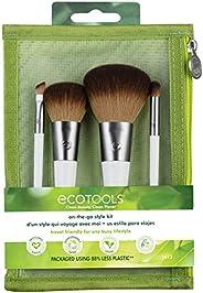 Kit de pincéis de maquiagem EcoTools com bolsa de cosméticos para viagem (conjunto com 5)