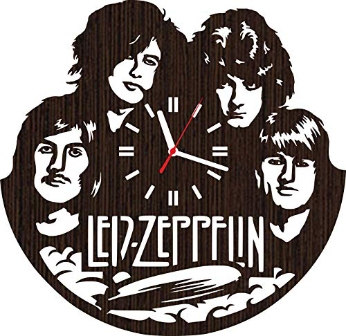 Wooden Wall Clock led Zeppelin Gifts for Men Women him her mom dad Grandpa Grandma Home Decorations Art Collectibles Fans Stuff Merchandise Accessories Band Rock and roll Vinyl Music Poster - Rock Legend T-shirt