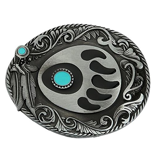 (Dovewill Retro Native American Turquoise Vintage Belt Buckle Cowboy Western Fashion Belt Buckle fit 3.6-3.9cm)