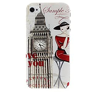 Fashion Big Ben Pattern Plastic Hard Case for iPhone 4/4S