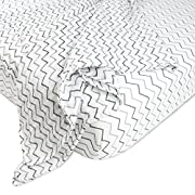 American Baby Company New Baby Welcome Kit with Muslin Cotton Swaddle Blanket and Fitted Crib Sheet, Grey ZigZag