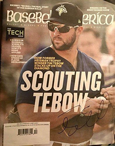 TIM TEBOW Signed Autograph BASEBALL AMERICA MAGAZINE Mets Gators SEC Nation - Autographed College Magazines