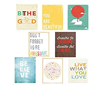 Amazon.com: Inspire Mini Collection 5x7 Wall Cards, Typography ...