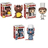 Pop! Disney: Ratatouille Emily, Remy, Alfredo Vinyl Figures Set of 3