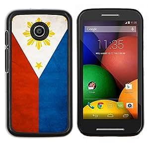 LECELL--Funda protectora / Cubierta / Piel For Motorola Moto E -- Nacional bandera de la nación País Filipinas --
