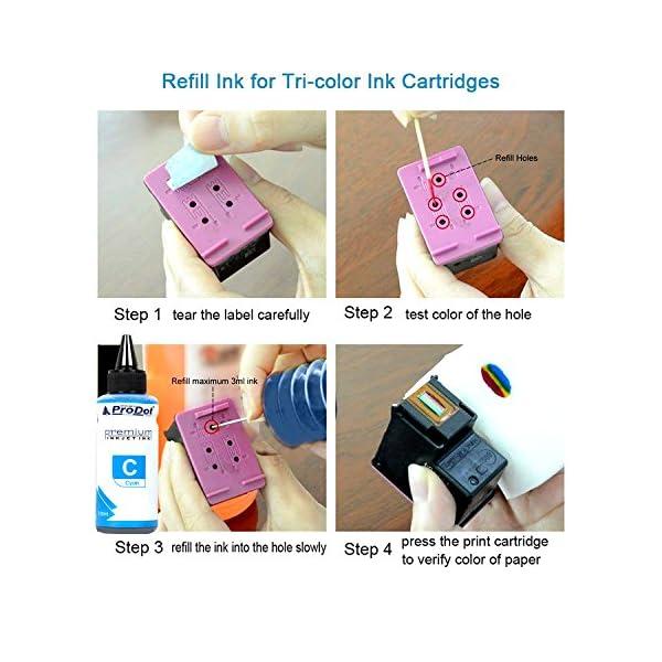 ProDot RI-CART-H05-DCYMK (HOT) Premium Refilling Ink for HP Inkjet Printers (Pack of 4)
