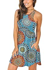 YUNDAI 2021 Fall Women's Long Sleeve Casual T Shirt Dresses Swing Dress with Pockets