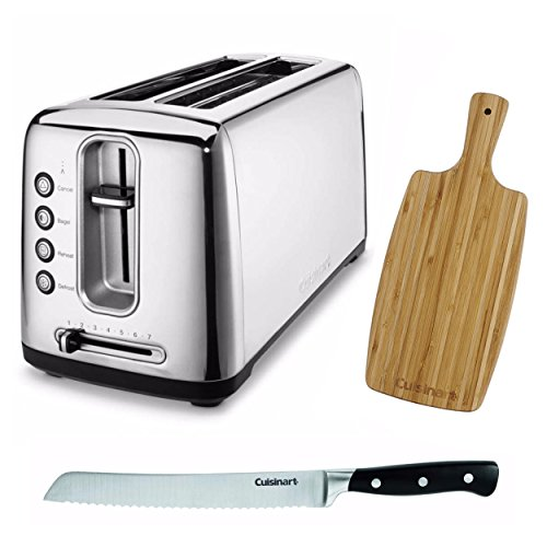 (Cuisinart CPT-2400 The Bakery Artisan Bread Toaster + Free Bread Knife and Cutting Board)
