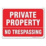 Private Property No Trespassing Sign, Large 10 X 7