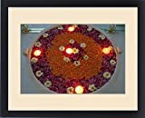 Framed Print of Asia, India, Udaipur. Attention to detail shows in the beautiful floating flower