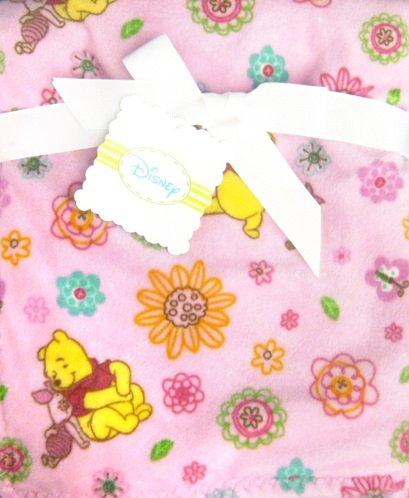Disney 2 Ply Superboa Crib Throw Pink Pooh Friends by Pem America