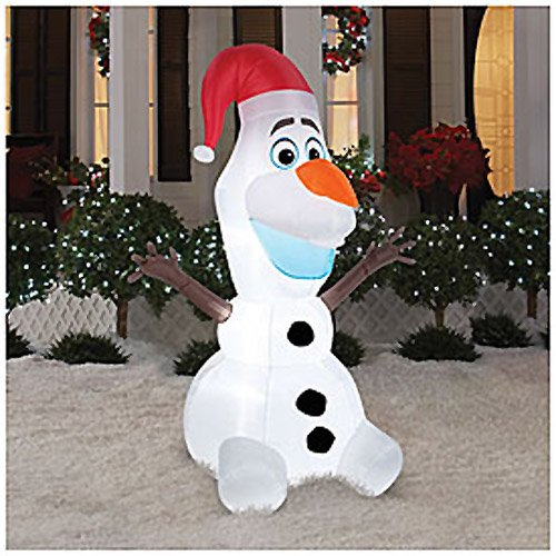 disney frozen olaf 6 foot christmas airblown inflatable blow up yard decoration - Disney Frozen Outdoor Christmas Decorations