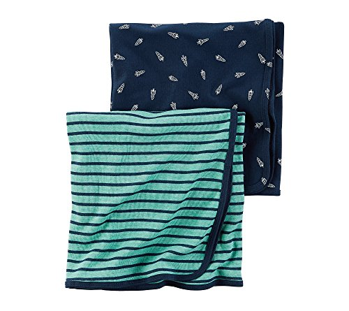 Carter's Baby Boys Blankets 126g544, Turquoise, One Size Baby