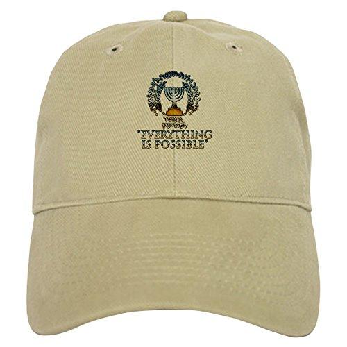 CafePress Mossad Cap Baseball Cap with Adjustable Closure, Unique Printed Baseball Hat Khaki