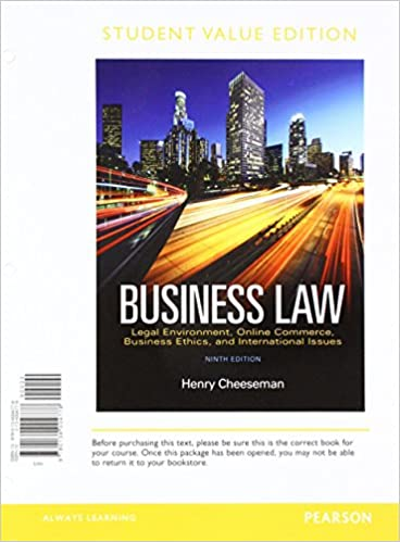 Business law student value edition plus 2017 mylab business law business law student value edition plus 2017 mylab business law with pearson etext access card package 9th edition 9th edition fandeluxe Choice Image