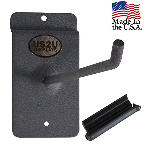 US2U Displays Heavy Duty Utility Hook Hanger for 3 inch Slatwall rail to hang Heavy Duty Garage and Household Items - 10 inch Stem - USS04-10-3SW