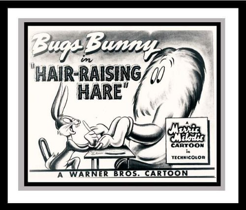"Bugs Bunny and Gossamer in ""Hair-Raising Hare"" Studio Lobby Card Publicity Still from Looney Tune / Warner Bros."