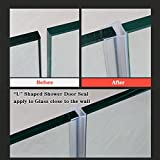 "HUAHA Frameless Flexible Shower Door Seal Sweep for 5/16"" Glass,10 Ft"