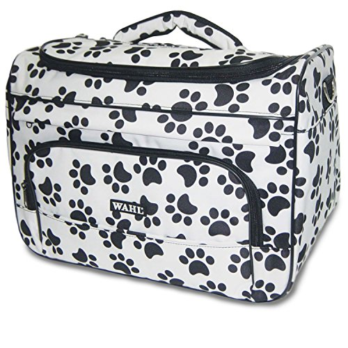 Wahl Professional Animal Paw Print Travel Tote Bag Black and White (Paw Prints Grooming)