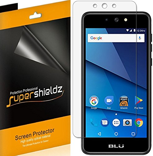 [6-Pack] Supershieldz for BLU Advance 5.2 Screen Protector, High Definition Clear Shield + Lifetime Replacements Warranty
