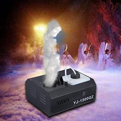 [Ambienceo 1500W 2L Stage Fog Machine Dry Smoke Fogger Smoker Remote DMX 512 for DJ Disco Bar Club Party] (Party Fog Machine)