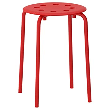 Swell Ikea Asia Marius Stool Red Pdpeps Interior Chair Design Pdpepsorg