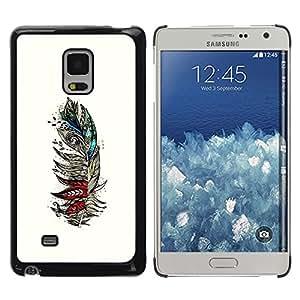 Shell-Star Arte & diseño plástico duro Fundas Cover Cubre Hard Case Cover para Samsung Galaxy Mega 5.8 / i9150 / i9152 ( Feather White Birds Artistic Teal Red )