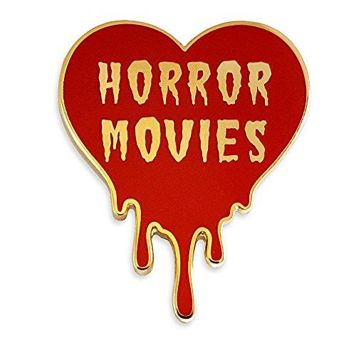 - Pinsanity I Love Horror Movies Heart Enamel Lapel Pin
