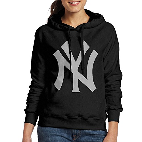 LOYRA Women's Yankees Logo Hoodie Size S Black