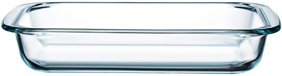 Clear Glass Baking Dish for Oven Glass Pan for Cooking Small Oblong Casserole Dish Rectangular Baking Pan Glass Bakeware,1 Piece (1 Quart)