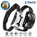 Bark Collar 2 Pack [Upgraded] | Anti-Barking Collar | Smart Chip | Beeps/Vibration/Shock