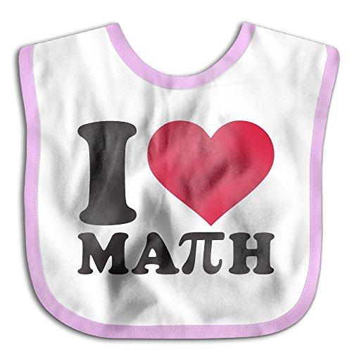 I Love Math With Pi Sign Infant Baby's Skin-friendly Saliva Towel - Shipping Usps Rates Canada