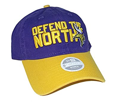Minnesota Vikings New Era Women's DEFEND THE NORTH Adjustable One Size Fits Most Hat Cap - Team Colors from New Era Cap Company, Inc.