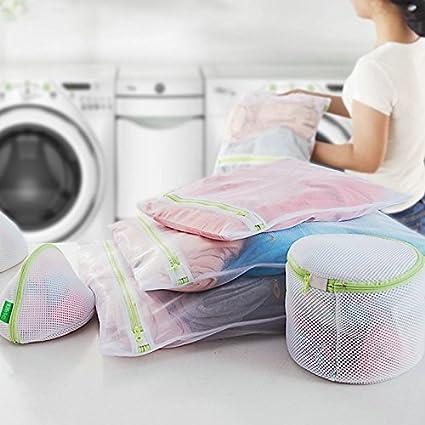 Vshare® Bolsa de malla de lavandería ropa Wash Bolsas para Lavadora Lavadora Arandela de lencería