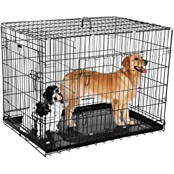 Pet Trex 2202 36 Inch Dog Crate Folding Pet Crate Kennel for Dogs, Cats or Rabbits, 36""