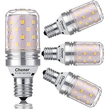 E17 Intermediate Base Led Bulb 8w 60 Watt Light Bulbs Equivalent Soft White 3000k Non