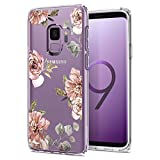 Galaxy S9 Case Spigen Liquid Crystal - Light but Durable Flexible Clear TPU Protection for Samsung Galaxy S9 (2018) - Blossom Flower