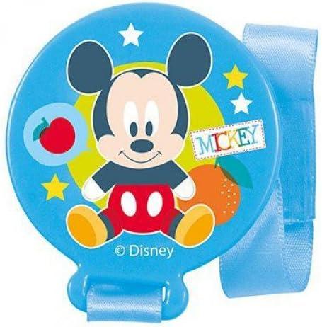 MICKEY 12//72 Sujeta chupetes en blister mickey baby azul colour overlap