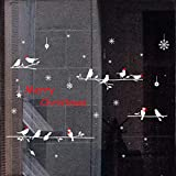 Fashionhe Merry Christmas Stickers Background Wall Paper Decoration Removable Wall Stickers(Multicolor,H)