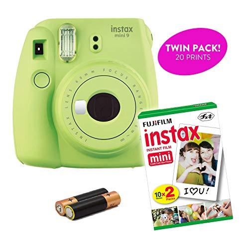 Fujifilm – Instax Mini 9 & Instax Mini 7S Instant Camera Product Bundles | Film Pack Options | Renewed (Mini 9 + 1 Film Pack, Lime Green)