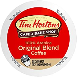 Tim Horton's Single Serve Coffee Cups, Medium Roast, 80 Count