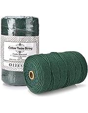 OIZEN Makramégaren 3 mm x 200 m katoengaren katoenkoord geschikt voor doe-het-zelf projecten - natuurlijk garen voor macramé garen katoenen touw