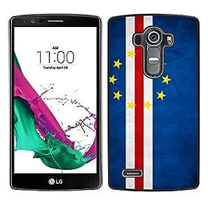 TopCaseStore / la caja del caucho duro de la cubierta de protección de la piel - Cape Verde Grunge Flag - LG G4