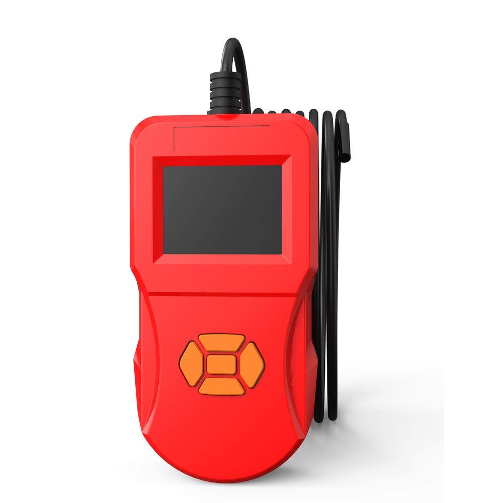 Festnight inskam127 2.4 Inch IPS HD Screen Digital Detection Endoscope Industrial Household Handheld Endoscopes with LEDs Red 8mm Lens 3 Meters Hard line