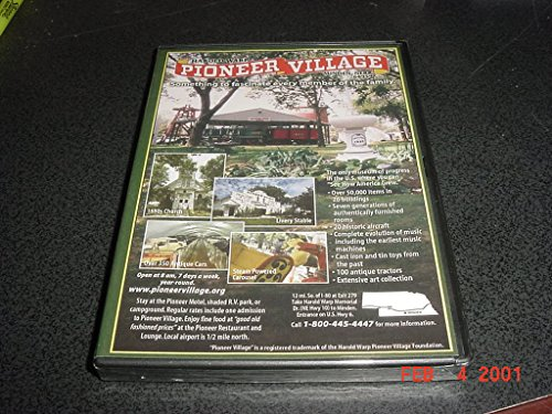 DVD Video of HAROLD WARP Pioneer Village Minden Nebraska. 350 Antique Cars, 100 Tractors, Steam Poowered Carousel, 1880's Church, Livery Stable, And over 50,000 items in 26 Buildings. ()