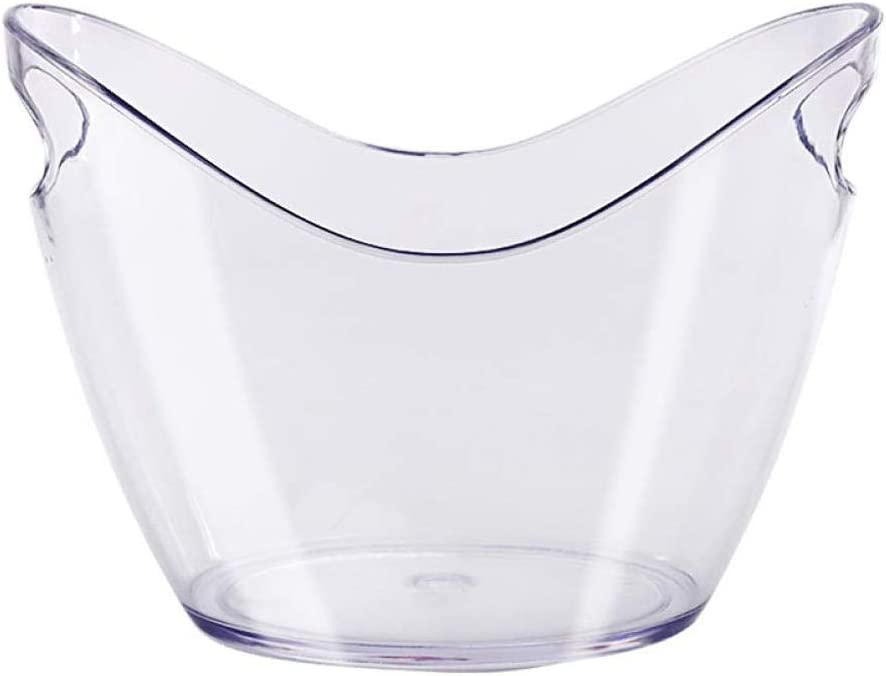 ZZWZM Ice bucket - Ice Bucket Clear Plastic Tub For Drinks and Parties Food Grade Holds Full-Sized Bottles (Size : Large)