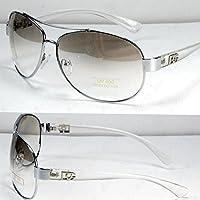 DG Eyewear Aviator Fashion Designer Sunglasses Shades Mens Women CLEAR / Gray Tinted Lens
