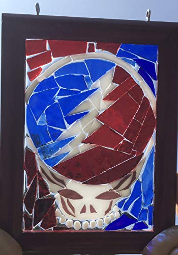 Stealie Stained Glass Grateful Dead Window Art Sun Catcher, Steelie