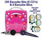 PINK Portable Karaoke Machine & CD Pl...